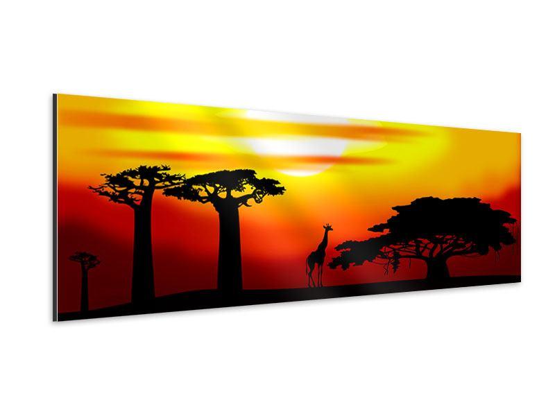 Aluminiumbild Panorama Faszination Afrika