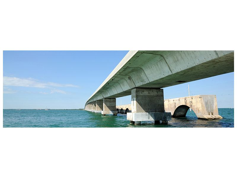 Aluminiumbild Panorama Seven Mile Bridge