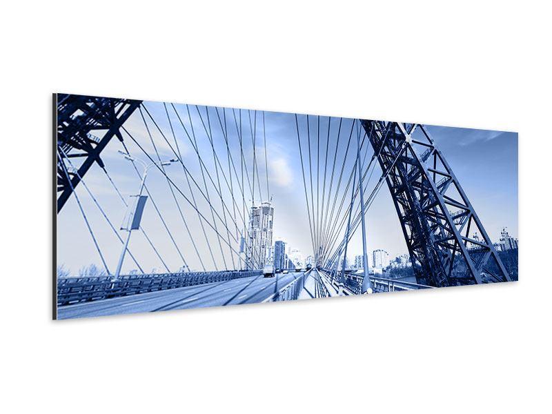 Aluminiumbild Panorama Schiwopisny-Brücke