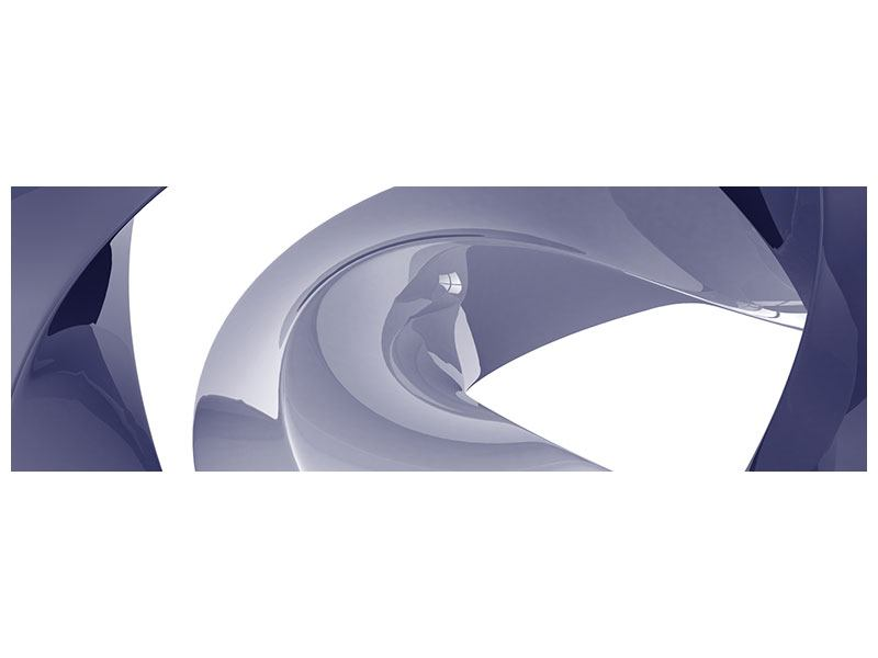 Aluminiumbild Panorama Abstrakte Schwingungen