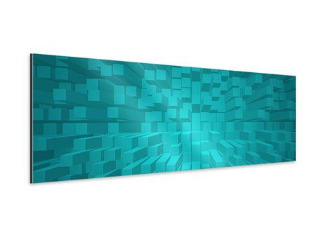 Aluminiumbild Panorama 3D-Kubusse