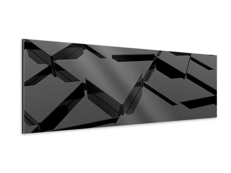 Aluminiumbild Panorama 3D-Dreiecksflächen