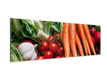 Aluminiumbild Panorama Gemüse
