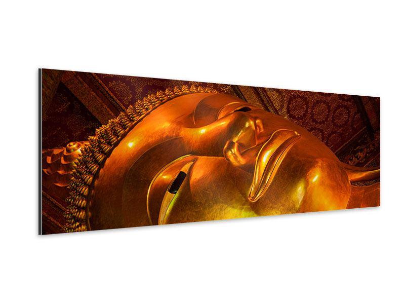 Aluminiumbild Panorama Liegender Buddha
