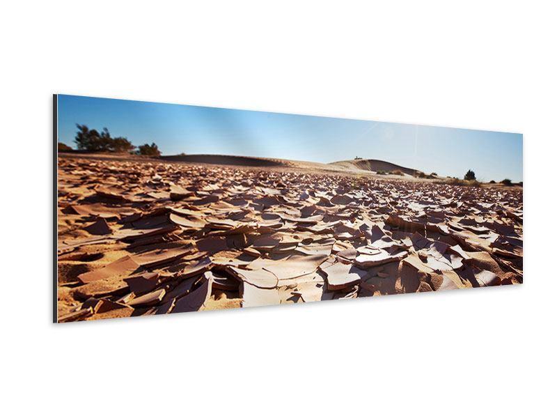 Aluminiumbild Panorama Dürre