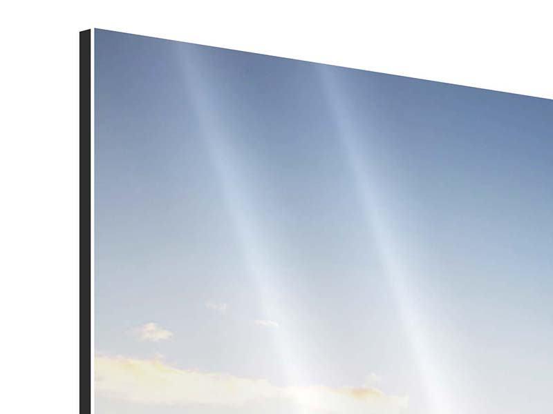 Aluminiumbild Panorama Katamaran