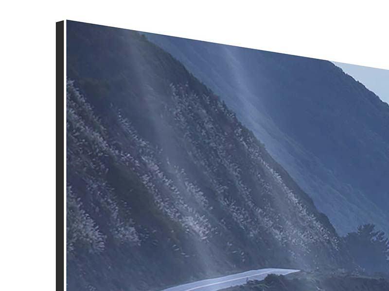 Aluminiumbild Panorama Bewegung im Wasser