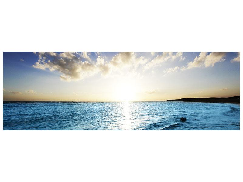 Aluminiumbild Panorama Das Meer im Sonnenaufgang