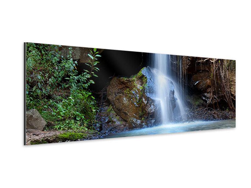 Aluminiumbild Panorama Die blaue Lagune