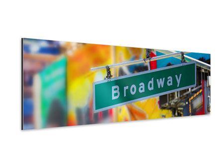 Aluminiumbild Panorama Broadway