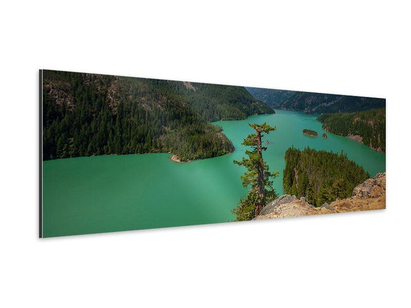 Aluminiumbild Panorama Diablo Bergsee