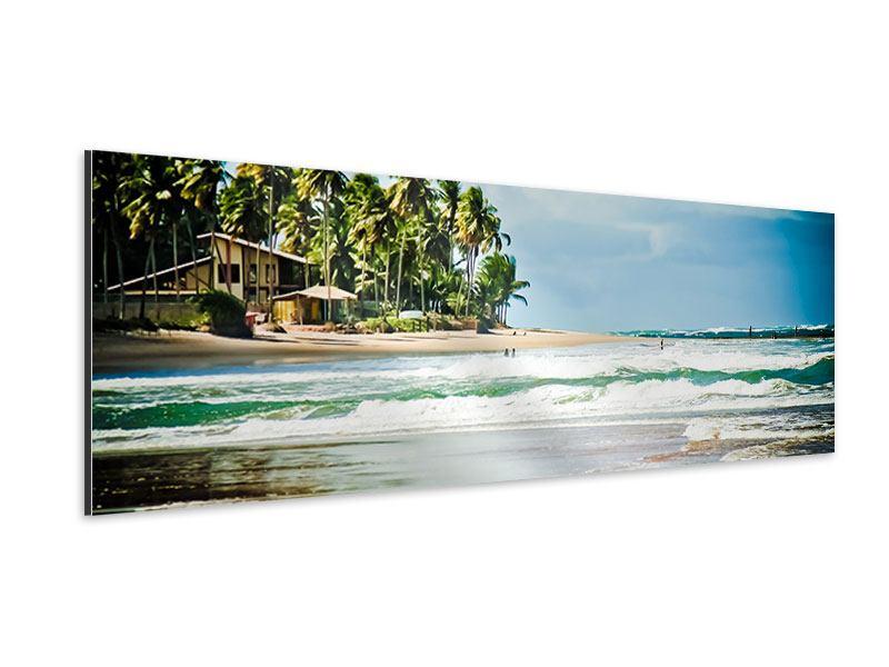 Aluminiumbild Panorama The Beach