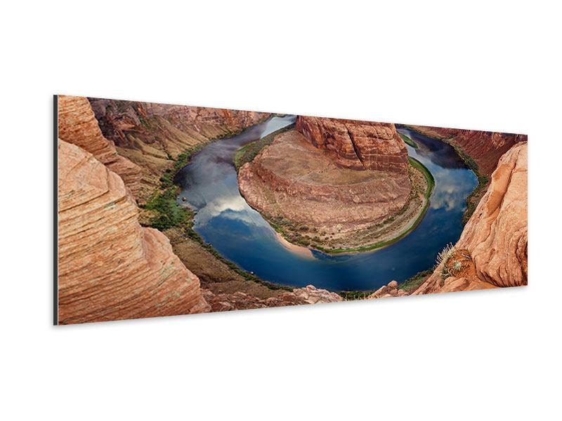 Aluminiumbild Panorama Horseshoe Bend