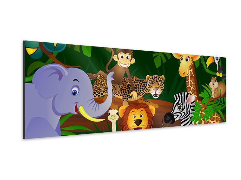 Aluminiumbild Panorama Dschungelkönig