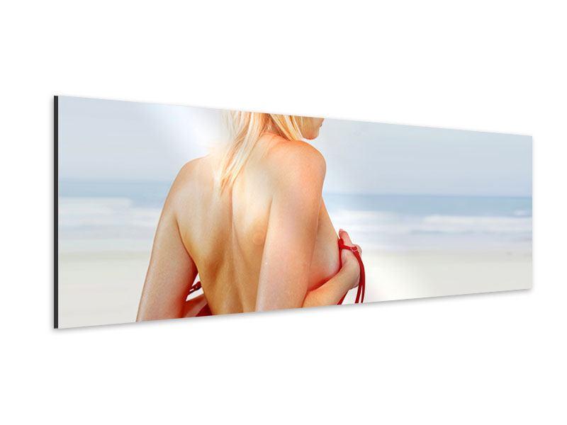 Aluminiumbild Panorama Rücken einer Schönheit