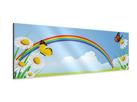 Aluminiumbild Panorama Der bunte Regenbogen