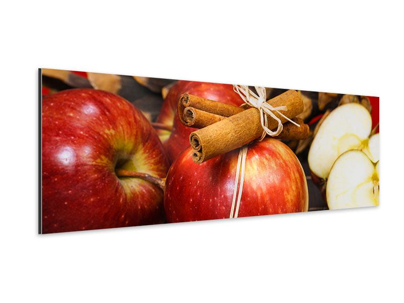 Aluminiumbild Panorama Äpfel