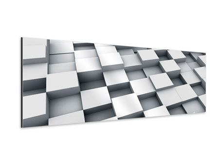 Aluminiumbild Panorama 3D-Kubus