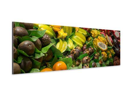 Aluminiumbild Panorama Früchte