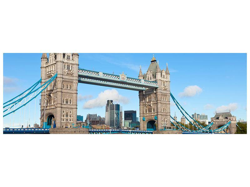 Aluminiumbild Panorama Die Tower Bridge