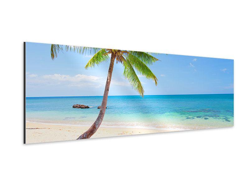 Aluminiumbild Panorama Die eigene Insel