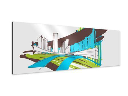 Aluminiumbild Panorama Graffiti Street-Art