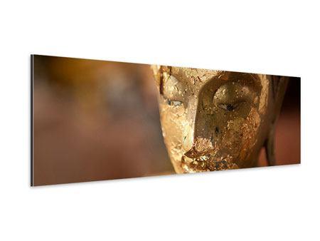Aluminiumbild Panorama Kopf eines Buddhas