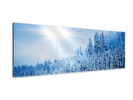 Aluminiumbild Panorama Wintermärchen