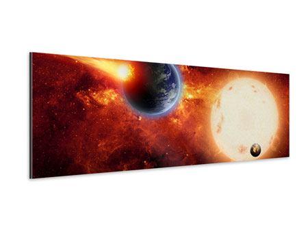 Aluminiumbild Panorama Der Kosmos