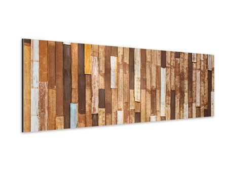 Aluminiumbild Panorama Designholz