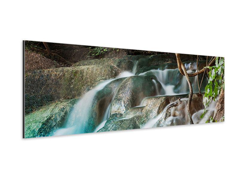 Aluminiumbild Panorama Am Fluss des Lebens
