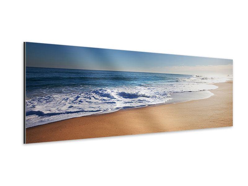 Aluminiumbild Panorama Privatstrand