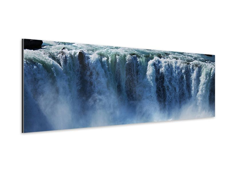 Aluminiumbild Panorama Mächtiger Wasserfall