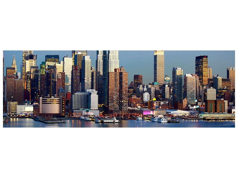 Aluminiumbild Panorama Skyline Midtown Manhattan