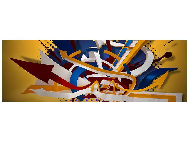 Aluminiumbild Panorama Graffiti Art