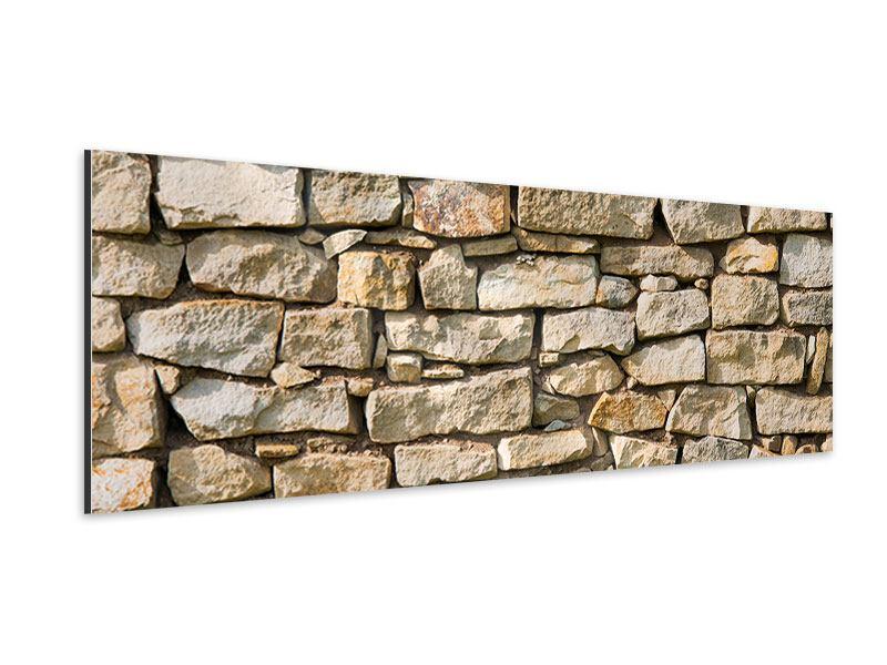 Aluminiumbild Panorama Natursteine