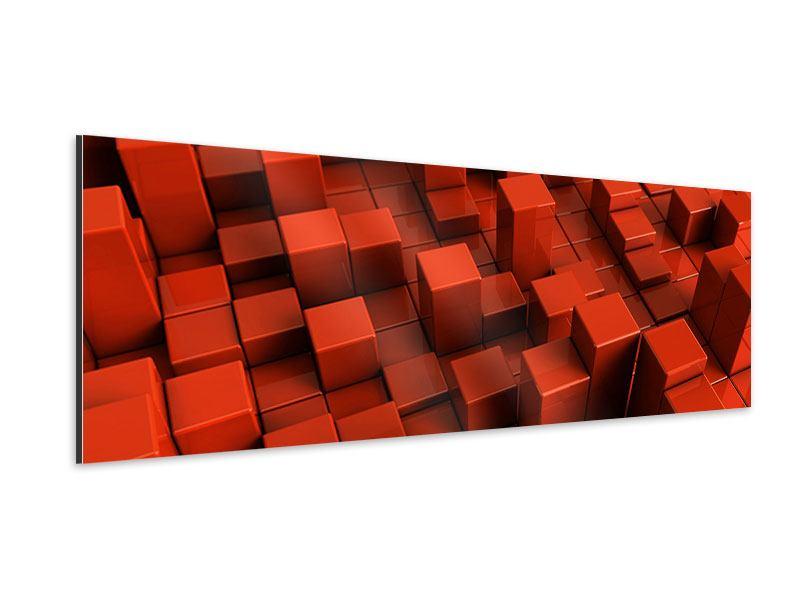 Aluminiumbild Panorama 3D-Rechtkant