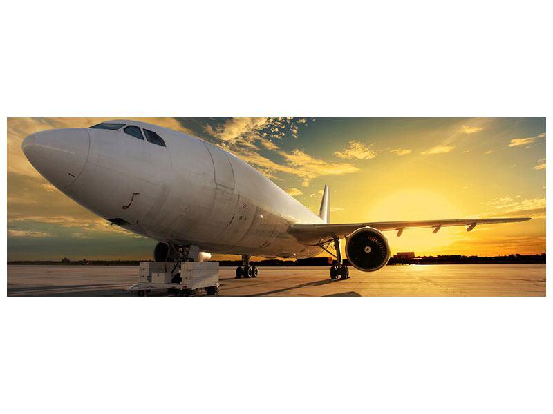 Aluminiumbild Panorama Jet