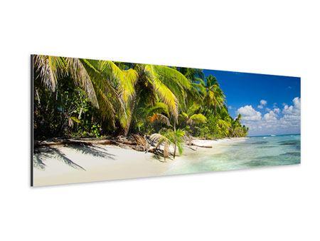 Aluminiumbild Panorama Die einsame Insel