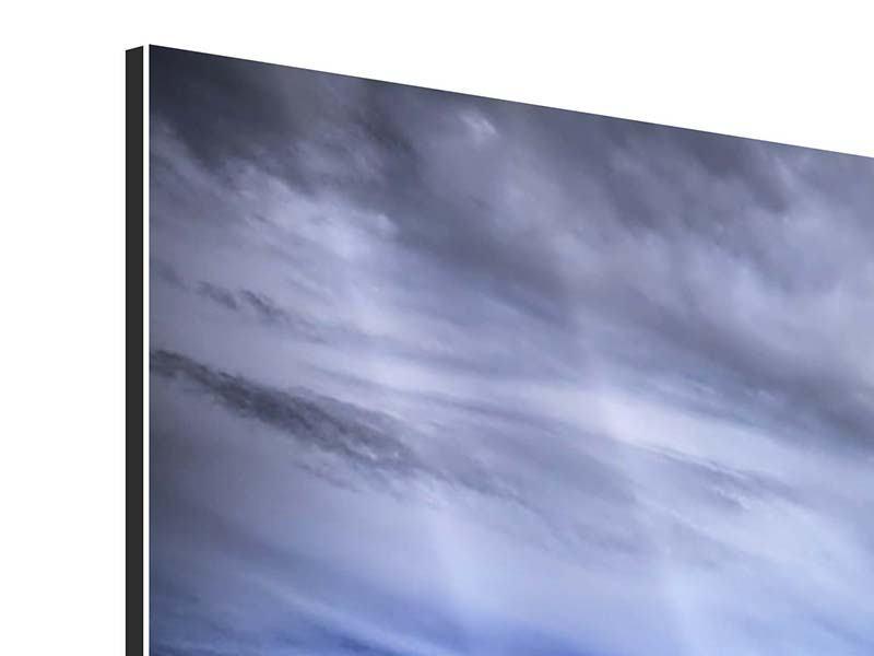 Aluminiumbild Panorama Strandwellen