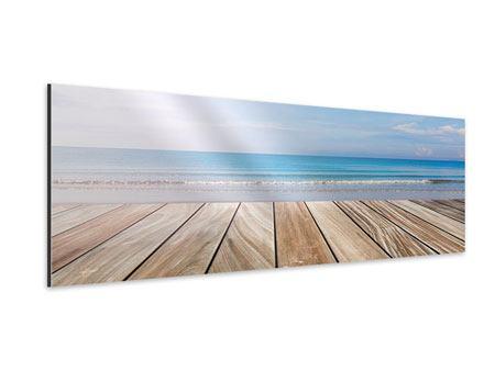 Aluminiumbild Panorama Das schöne Strandhaus
