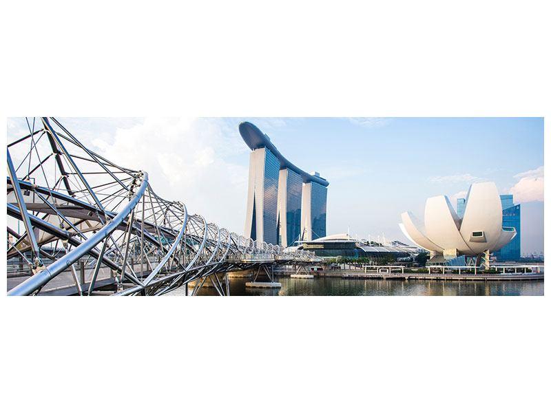 Aluminiumbild Panorama Singapur