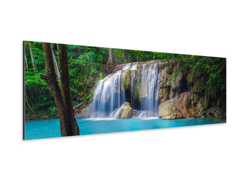 Aluminiumbild Panorama Naturerlebnis Wasserfall