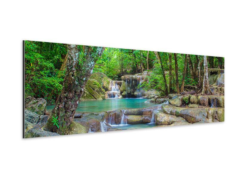Aluminiumbild Panorama Wasserspektakel