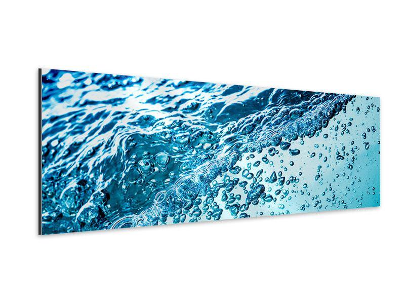 Aluminiumbild Panorama Wasser in Bewegung
