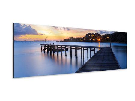 Aluminiumbild Panorama Inseltraum