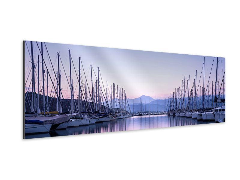 Aluminiumbild Panorama Yachthafen