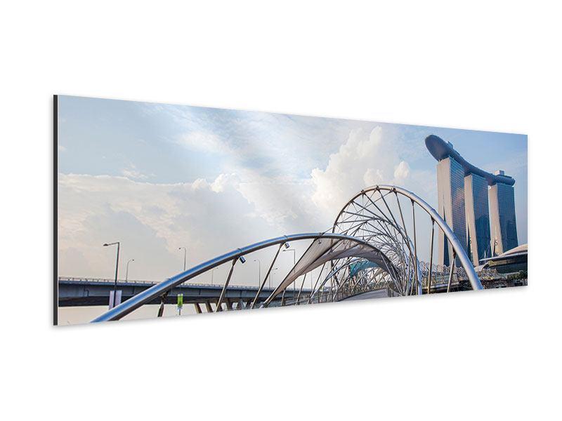 Aluminiumbild Panorama Helix-Brücke