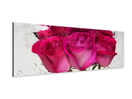 Aluminiumbild Panorama Die Rosenspiegelung