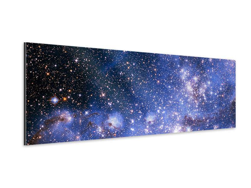 Aluminiumbild Panorama Sternenhimmel